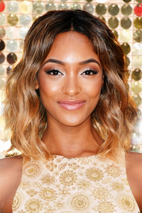 From head to tips Jourdan Dunn faded her hair from brown to blonde.