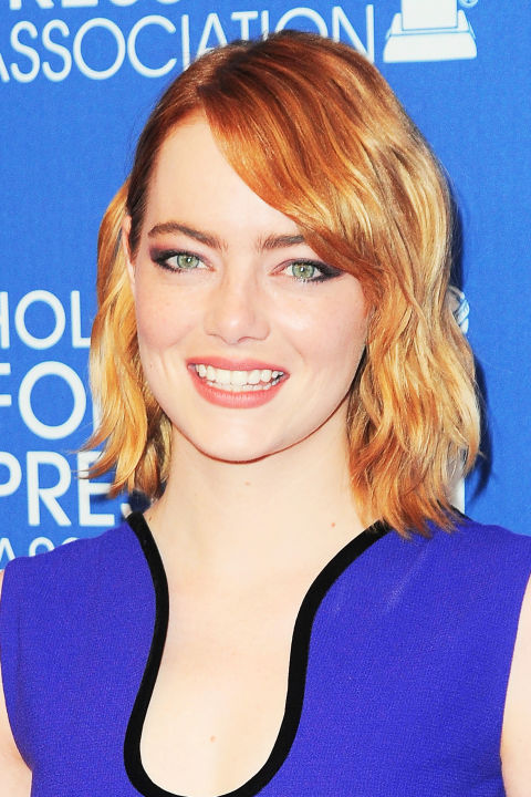 Redheads aren't left out of the ombré trend. Take a page from Emma Stone's book with her soft gradation from deep red at her roots to strawberry blonde at the ends.