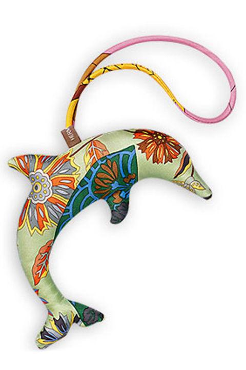 Hermès Silk Dolphin Ornament, $135; hermes.com