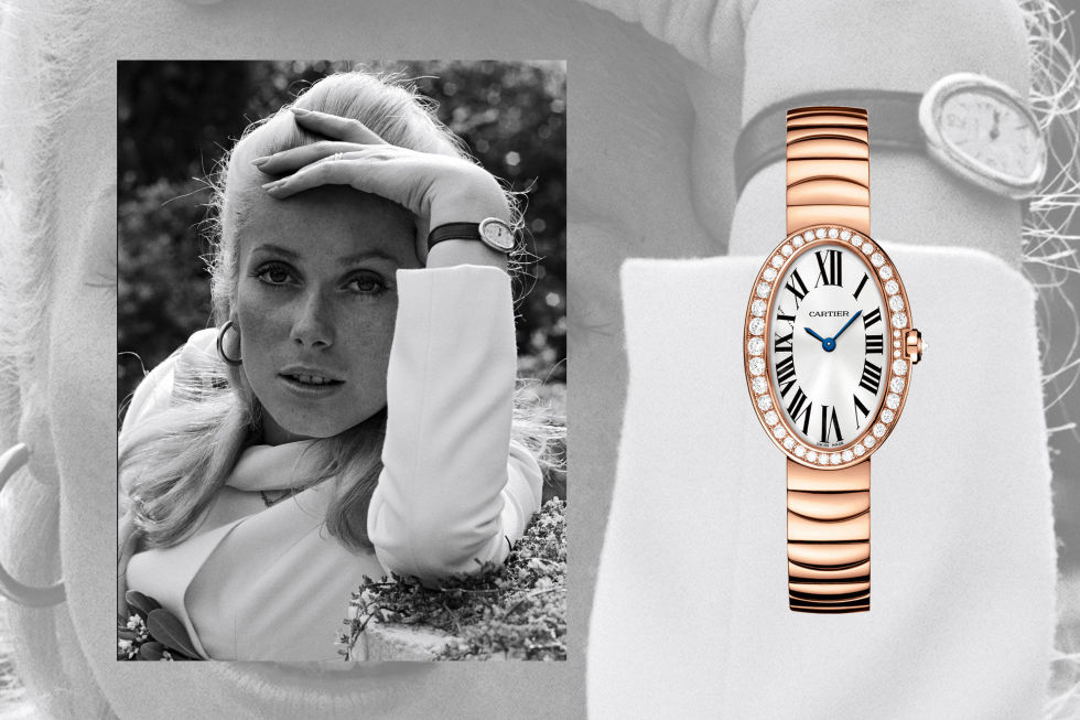 "The recognizable shape of the Cartier Baignoire helps give the watch its name; it translates literally to mean ""bath,"" a la its oval face. The style, created in 1906, matches actress Catherine Deneuve's timeless Parisian style perfectly. Prior to the actress' adoption of the style, the house had been an exclusive jeweler known only to those well-heeled enough to be a customer; with the popularization courtesy of Deneuve, it morphed into more of a global luxury brand.Cartier 18-Carat Baignoire Small Model with Diamonds, $32,300; cartier.com"