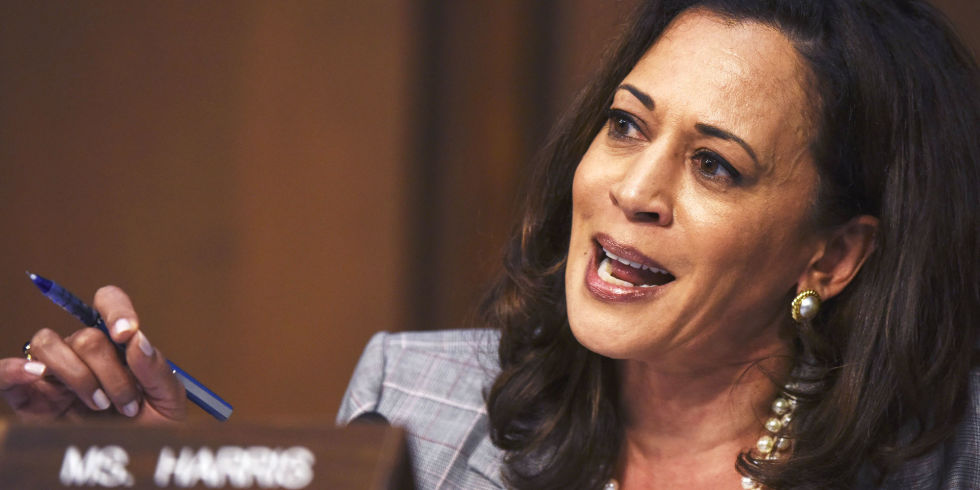 Image result for photos of kamala harris during hearings