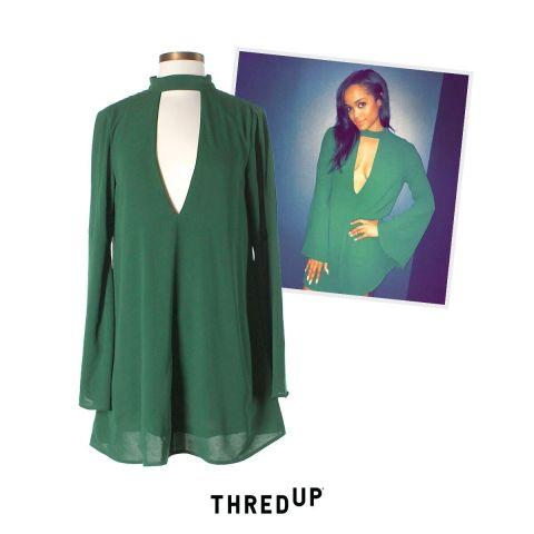 rachel lindsay green dress thredup