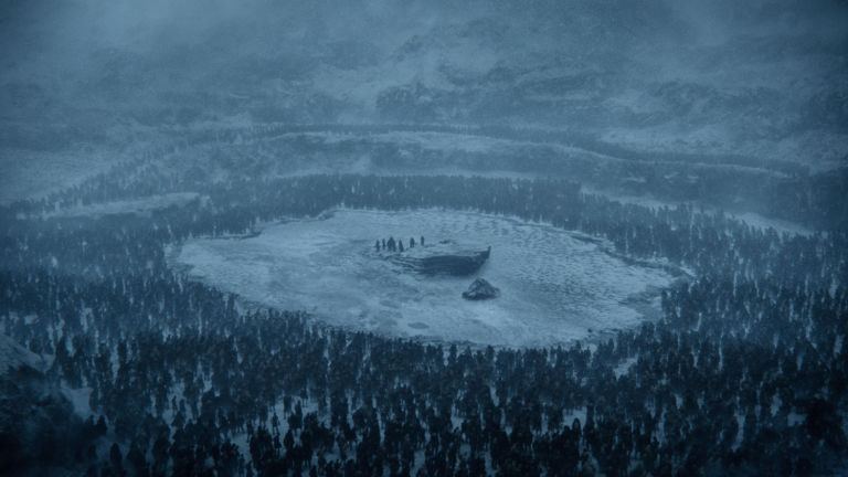 Jon Snow and the gang surrounded beyond the wall