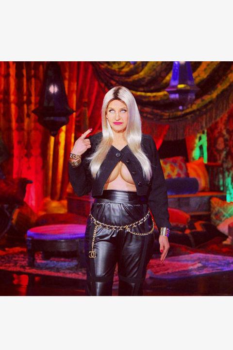 Ellen DeGeneres takes a page from the Nicki Minaj look book.