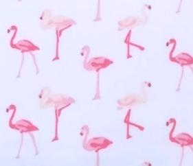 Pink Flamingo Crib Sheet