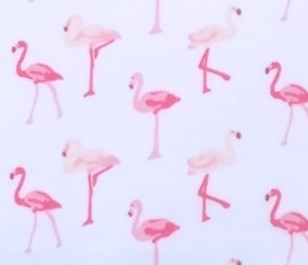 Pink Flamingo Crib Sheet