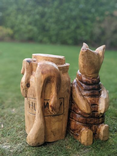 Winnie the Pooh carving