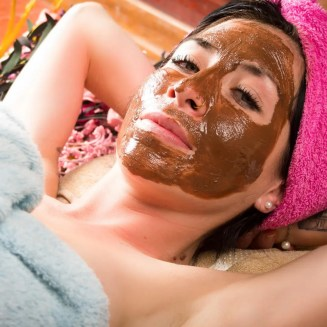person getting facial mask