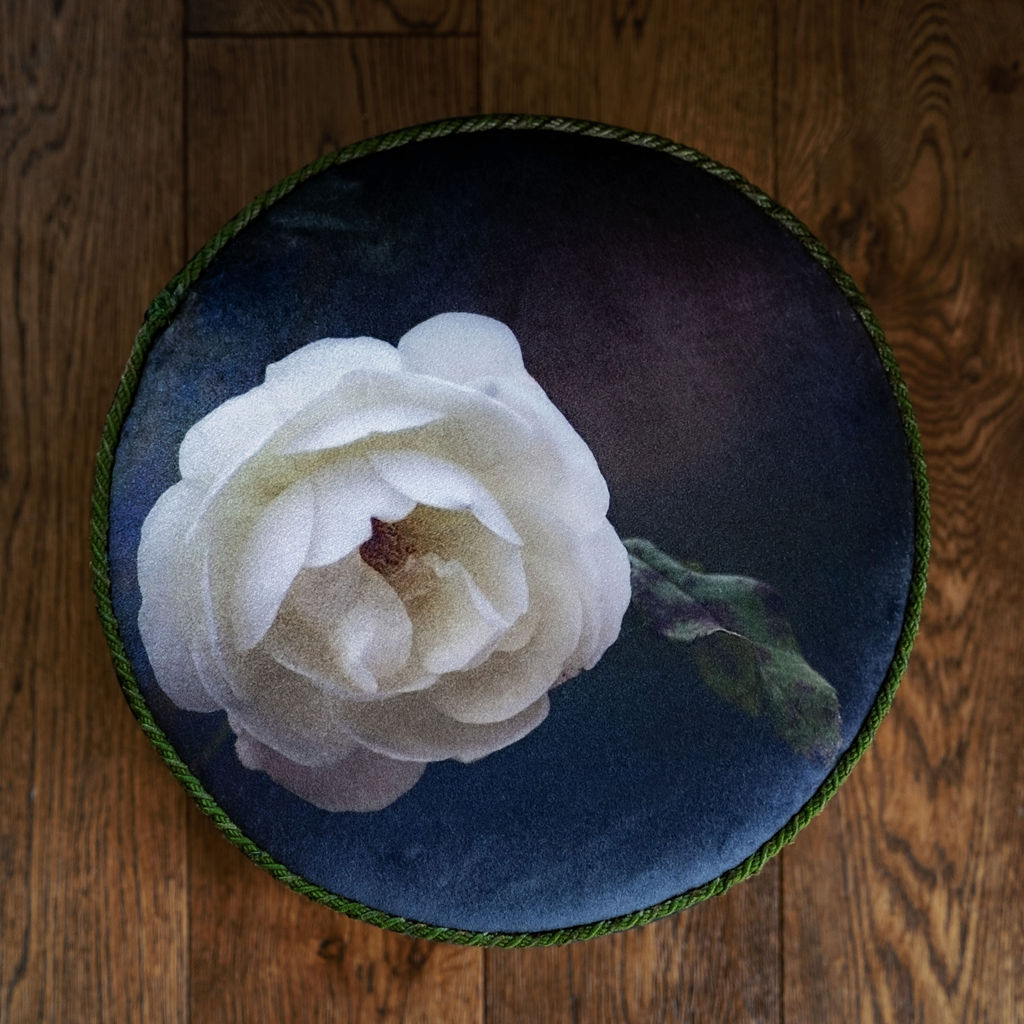 The Story Behind the White Rose Footstool
