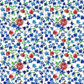 Ditzy Rose Pattern (c) Ella Johnston