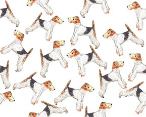 Dog pattern for fabric (c) Ella Johnston