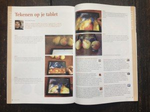 Schilder app's voor op je iPad, artikel in Atelier Magazine
