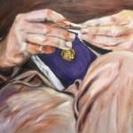 Een video fragment van het schilderen aan een portret van Koos
