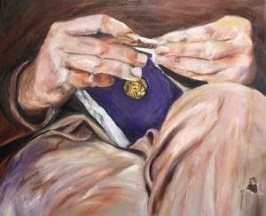 Portret van Koos, olieverf schilderij