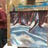 geschilderd winterlandschap van Paul