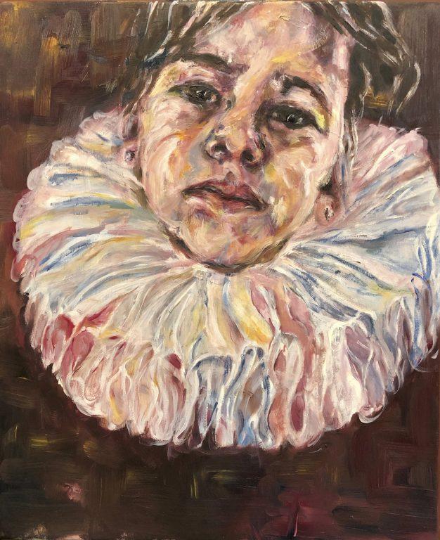Een dochter voor Frans Hals, olieverf schilderij. Portretten. Schilderlessen.