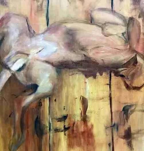 Hout schilderen bij schilderij Rocker
