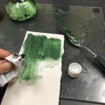 Pigment Groene Aarde, olieverf maken