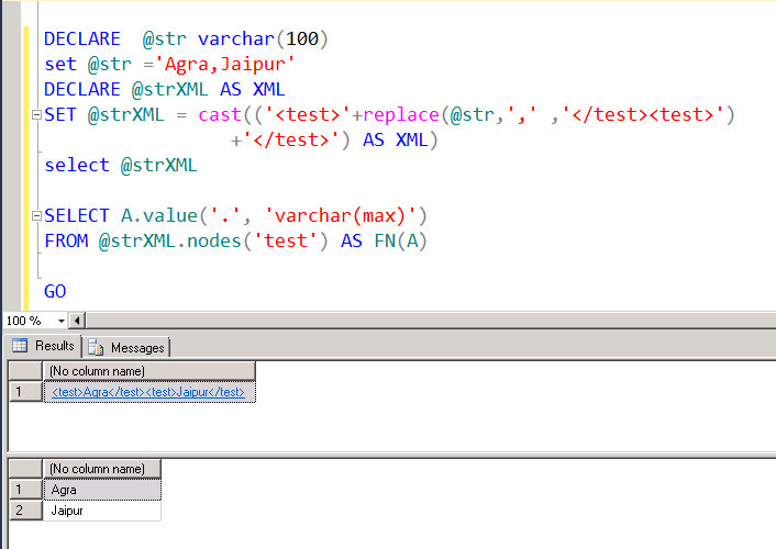 How to pass multiple comma separated values as a single parameter into a function