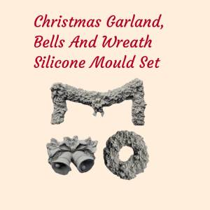Christmas Garland, Bells and Wreath Silicone Mould Set