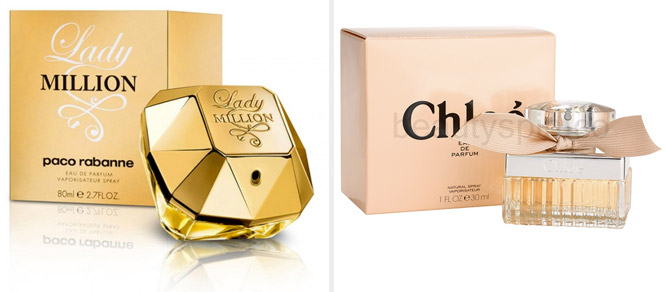 "Paco Rabanne ""Lady Million"" Y Chloé ""Chloé"""