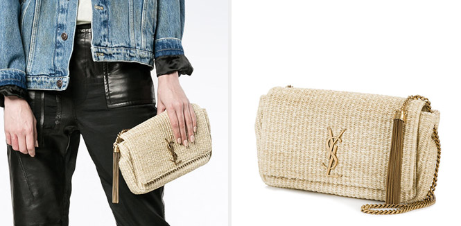 Woven Monogram Shoulder Bag de Yves Saint Laurent