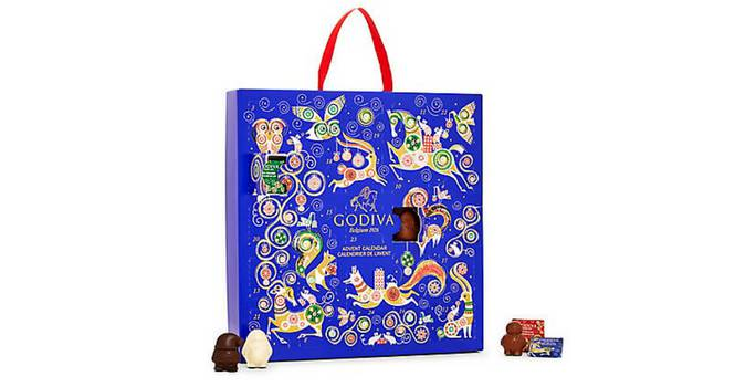calendario de adviento de chocolate Godiva