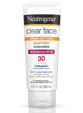 Clear Face Liquid Lotion Sunscreen Broad Spectrum de Neutrogena