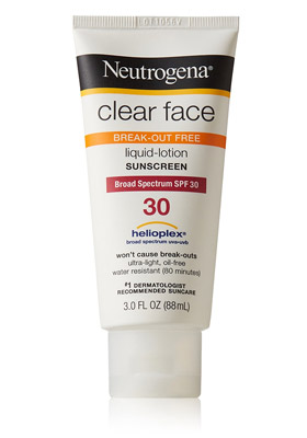 Clear Face Liquid-Lotion Sunblock de Neutrogena