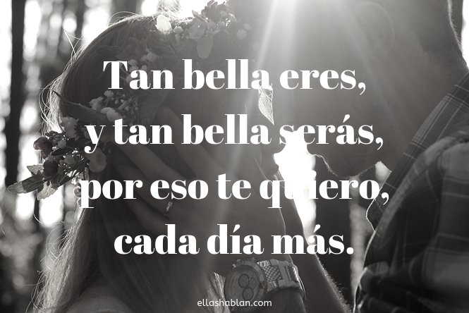 Poema Tan Bella Eres