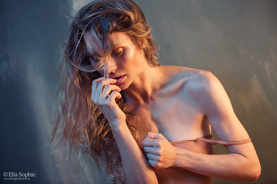 Dancer Lee Alex Studio Boudoir Editorial, mixed light, by Ella Sophie