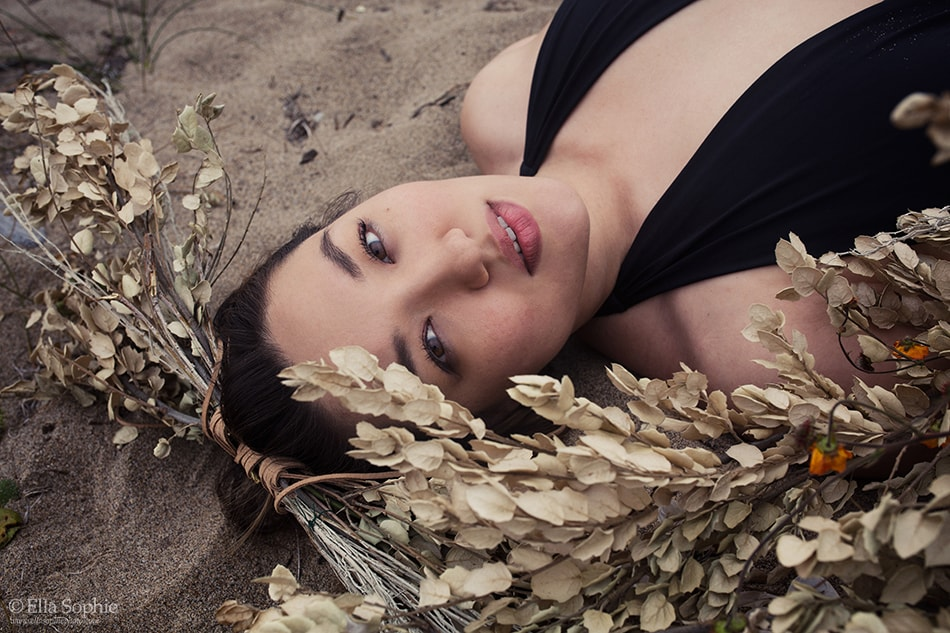 Natural beauty, feminist defiant woman. Model at Point Reyes by Photographer Ella Sophie