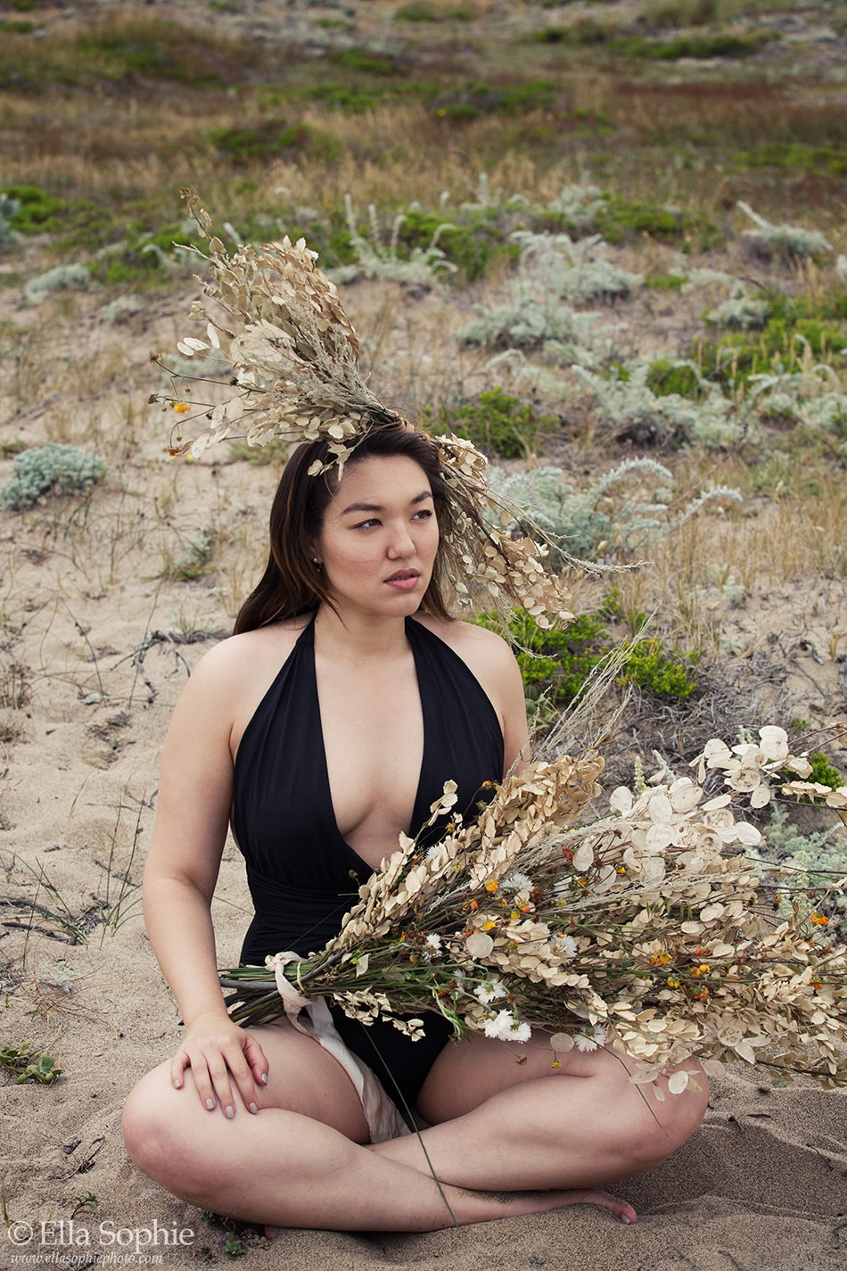 Beyond Boudoir portraits to embrace your feminine power, by Oakland Photographer Ella Sophie, Point Reyes California