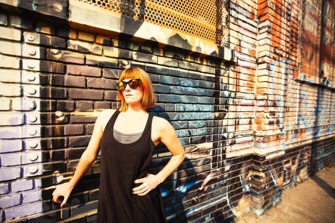 Orange bob cut, glasses, smoke. Oakland Street Portrait photography by Ella Sophie