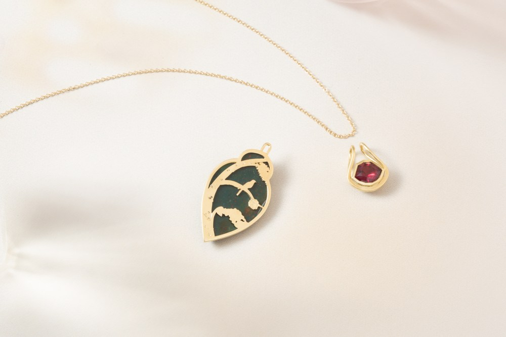 Customizable pendant by Mercurius Jewelry by Oakland Photographer Ella Sophie