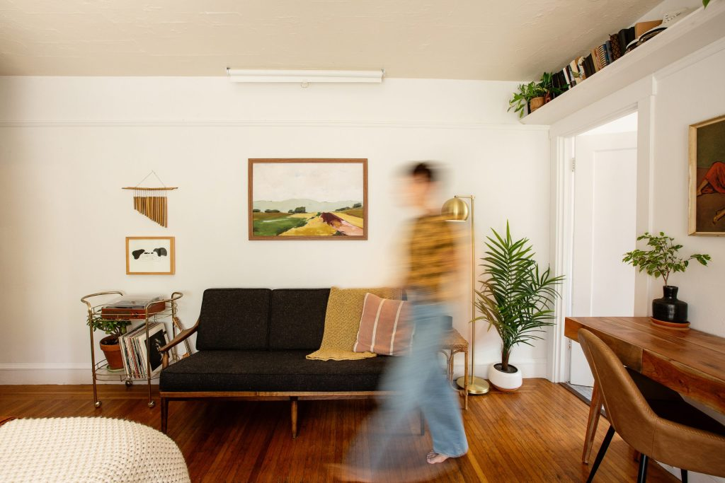 Interior Designer Carrie Burch walks through her space, photographed by Ella Sophie, Oakland