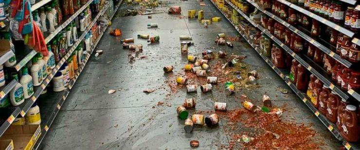 Mercado devastado despues del temblor de tierra del dia 5 de julio. El Latinaso Noticias