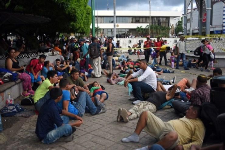 Migrantes en méxico esperando una oportunidad. El Latinaso Noticias