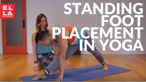 standing foot placement in yoga