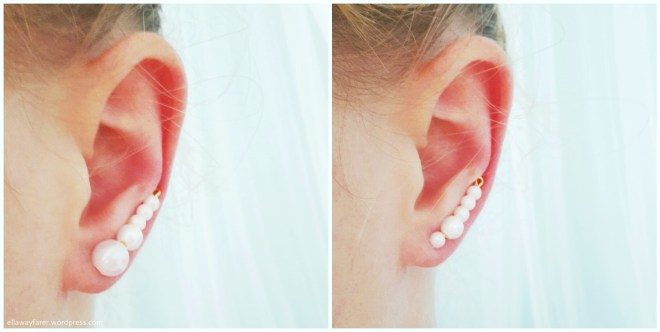 GOLDEN PEARL EARPINS DIY