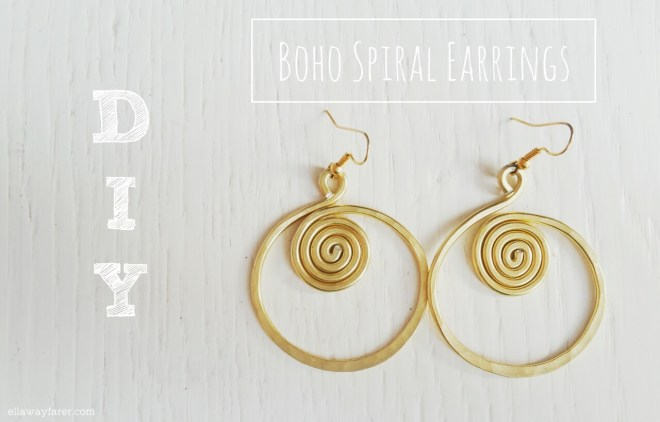 DIY BOHO SPIRAL EARINGS WIRE