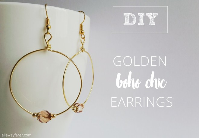 GOLDEN BOHO CHIC EARRINGS DIY