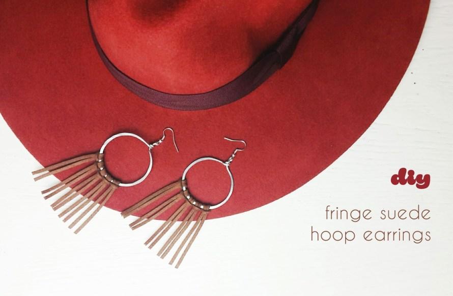 Fringe faux Suede Hoop Ohrringe | DIY