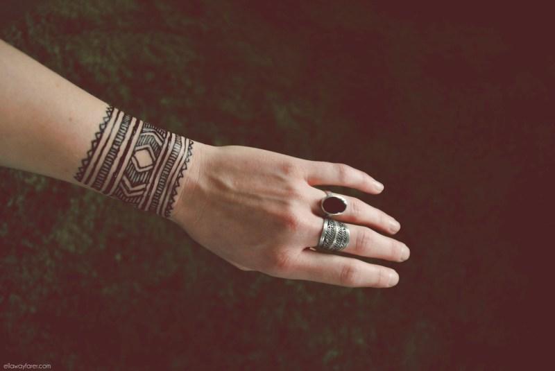 HENNA | Moroccan Style Wrist Tattoo