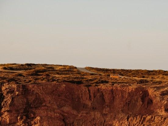 Living in a Van in Portugal: Cliffs near Praia do Amado