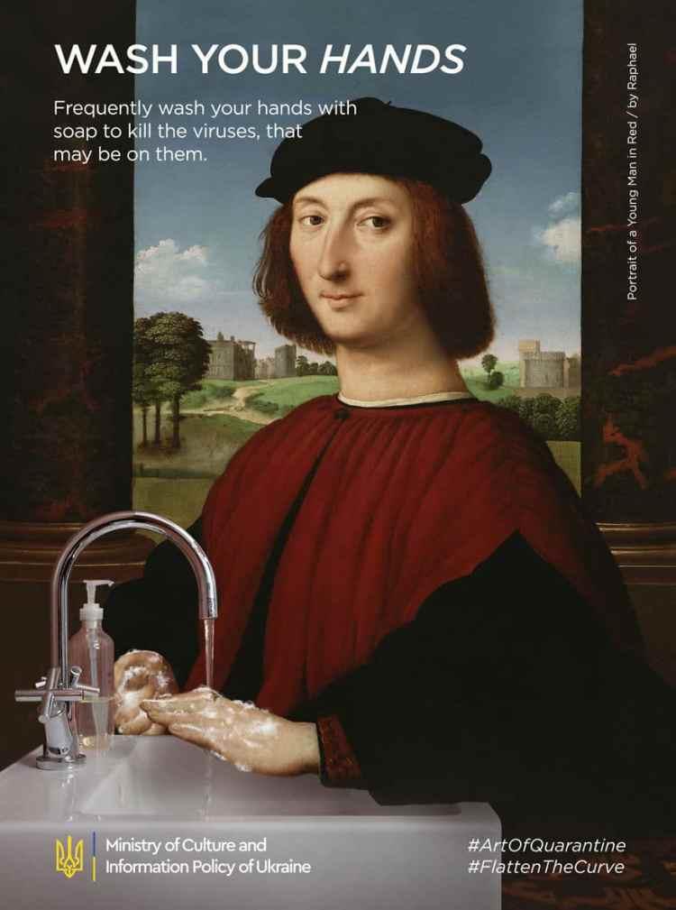 Raphael, Retrato de un joven coronavirus