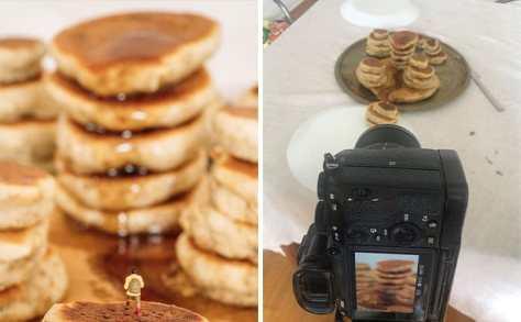 Paisajes fotografiados en casa con cascadas de caramelo