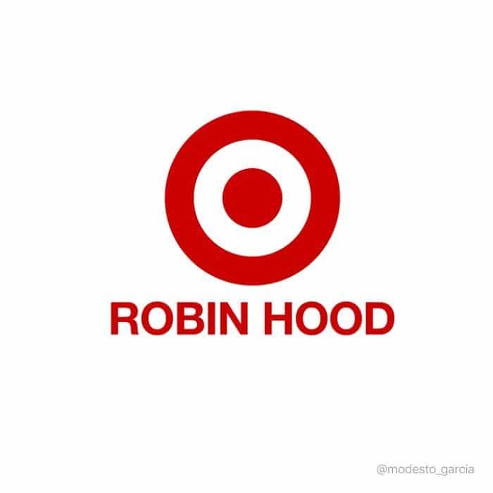 Logo Robin Hood con logo de Target
