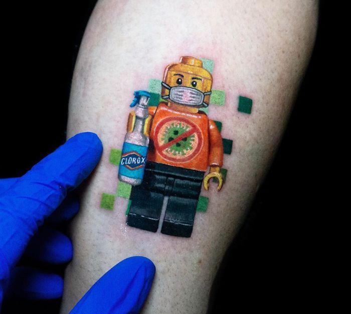Los tatuajes más creativos del Covid19.