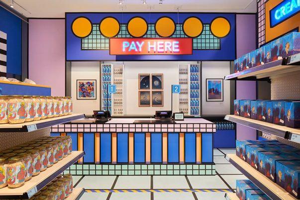 supermercado diseñado por artistas interior